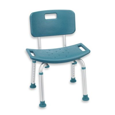 Drive Medical Aluminum Teal Shower Chair