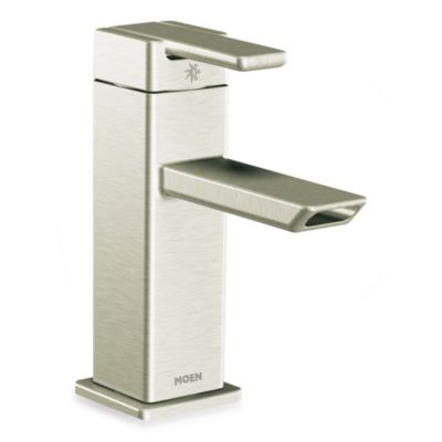 Moen 90 Degree One-Handle Low-Arc Bathroom Faucet - Brushed Nickel