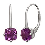 Badgley Mischka® The New Classics Sterling Silver w/Gemstone Drop Dangle Earrings in Amethyst
