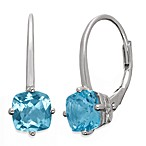 Badgley Mischka® The New Classics Sterling Silver w/Gemstone Drop Dangle Earrings in Blue Topaz