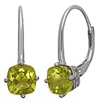 Badgley Mischka® The New Classics Sterling Silver w/Gemstone Drop Dangle Earrings in Peridot