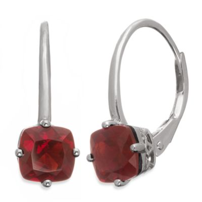 Badgley Mischka® The New Classics Sterling Silver w/Gemstone Drop Dangle Earrings in Smokey Quartz