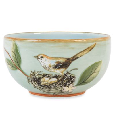 Fitz & Floyd Toulouse Green 5-Inch Small Bowl