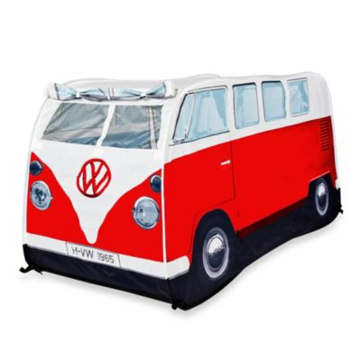 VW Campervan Children's Pop-Up Play Tent in Red