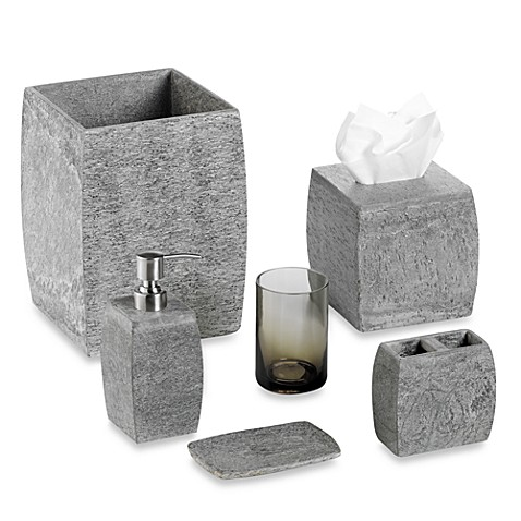 Kenneth Cole Reaction Home Slate Wastebasket