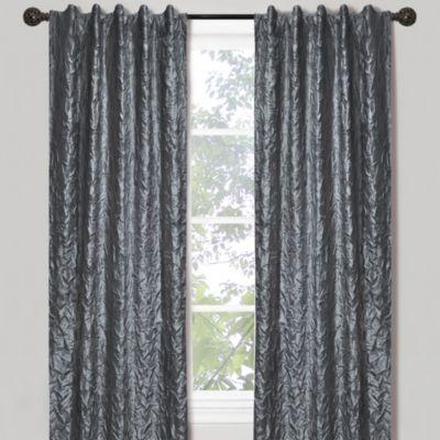Crinkle Chintz 84-Inch Window Curtain Panel in Platinum