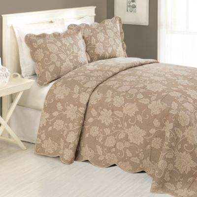 Janet Full Bedspread in Taupe
