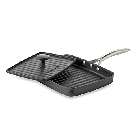 Calphalon® Unison™ Sear Nonstick Grill Pan & Cast Iron Press