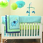 Pam Grace Creations Zig Zag Elephant 10-Piece Crib Bedding Set