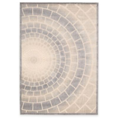 Kenneth Cole Reaction Home Mosaic Tile 1-Foot 10-Inch x 6-Foot Rug in Light Multicolor