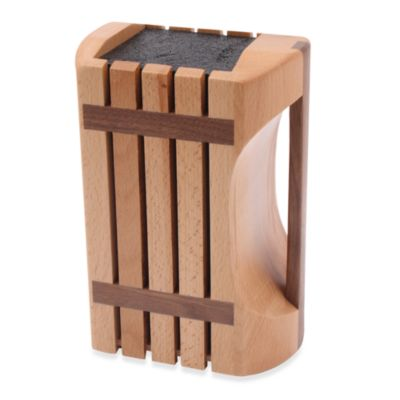Kapoosh™ Designer Beachwood Knife Block with Handle