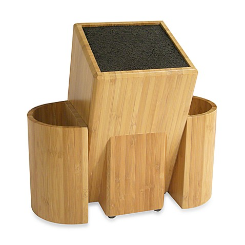 Kapoosh kitchen caddy wooden knife block bed bath beyond - Unique kitchen utensil holder ...