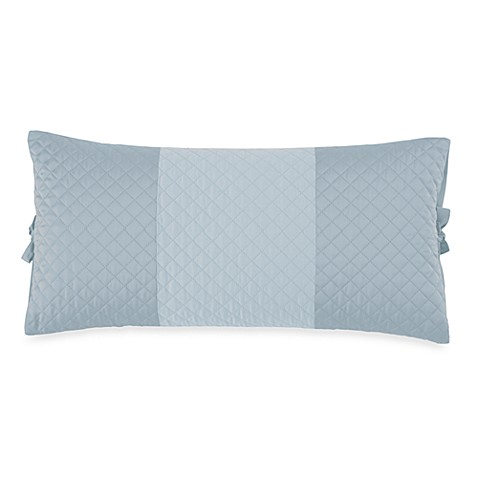 DKNY Harmony Quilted Breakfast Pillow in Blue