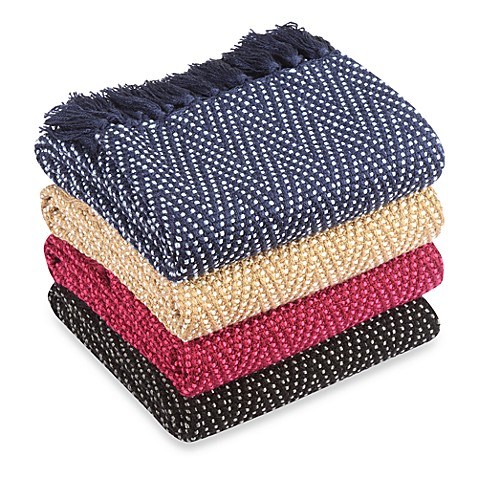 Multi-Colored Chevron Knitted Throws