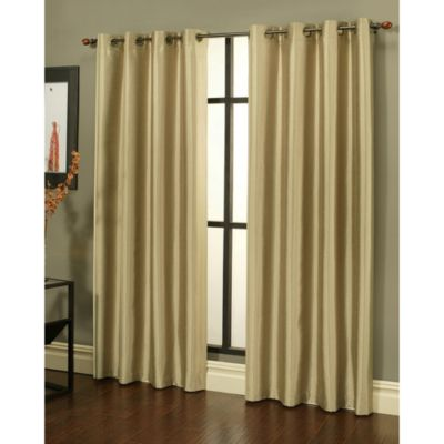 Taupe Window Curtain Pair