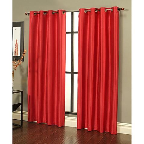 Buy Sherry Kline 84 Inch Faux Silk Grommet Blackout Window Curtain Panels In Cherry Red Set Of