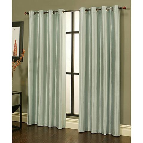 Buy Sherry Kline 84 Inch Faux Silk Grommet Blackout Window Curtain Panels In Grey Mist Set Of 2