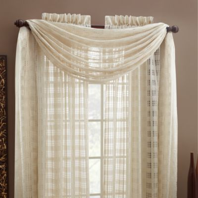 Croscill® Wicker Linen Rod Pocket Window Scarf Valance
