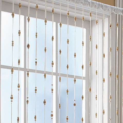 Bamboo Bead Jewelry Window Curtain Panel