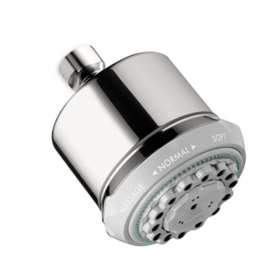 Hansgrohe Clubmaster 3-Spray 3 5/8-Inch Showerhead in Chrome