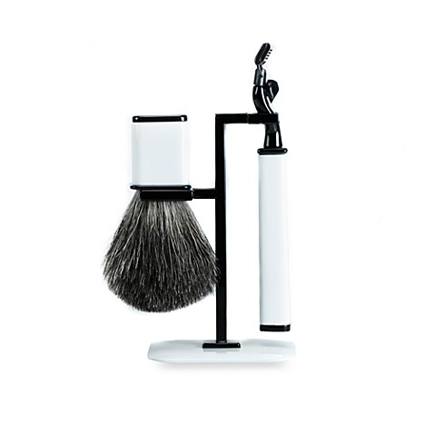 Axwell-USA Shaving Set RBS Series in White & Black