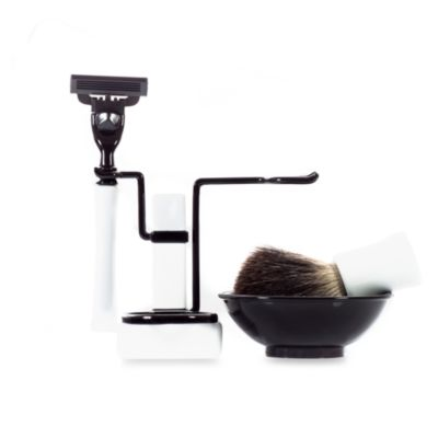 Axwell-USA Shaving Set RBSB Series in White & Black
