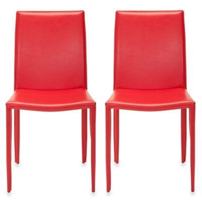 Safavieh Karna Dining Chair (Set of 2) in Red