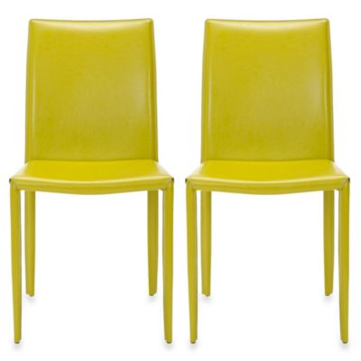 Set of 2 Green Dining Chair