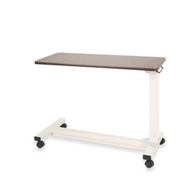 Drive Medical Bariatric Overbed Table in Walnut