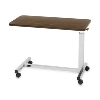 Drive Medical Low Overbed Table in Walnut