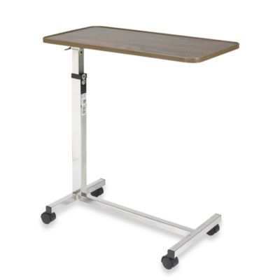 Drive Medical Tilt Top Overbed Table in Walnut