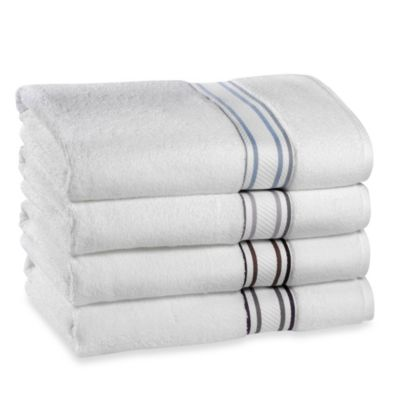 Wamsutta® Bath Towel in Pewter/Iris