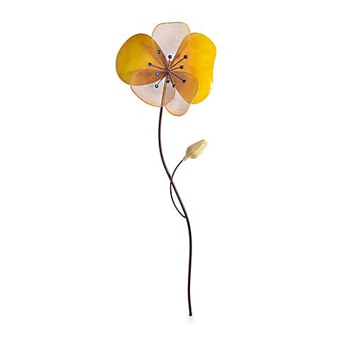 buy orange metal flower wall art from bed bath beyond. Black Bedroom Furniture Sets. Home Design Ideas
