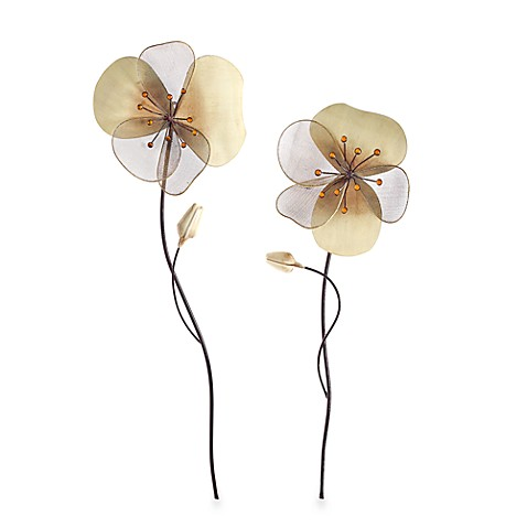Natural Metal Flower Wall Art