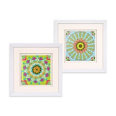 Taj Medallion Sunburst Wall Art in Black & Green