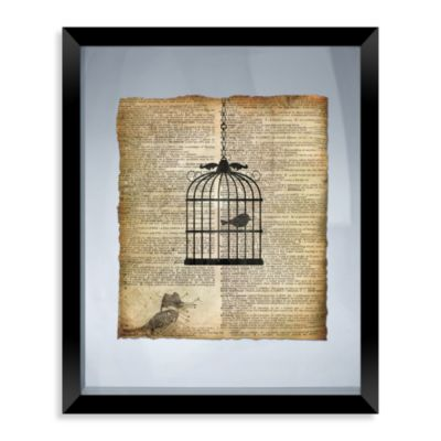 Birdcage Framed Wall Art