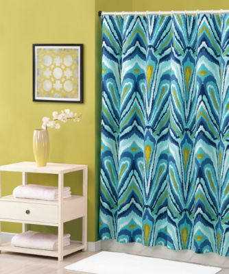 Trina Turk® 72-Inch x 72-Inch Shower Curtain in Blue Peacock