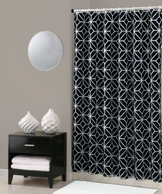 Trina Turk® Trellis Shower Curtain in Black