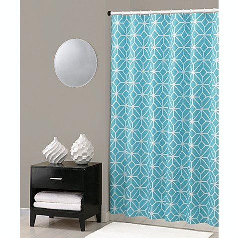 Buy Trina Turk Trellis Shower Curtain In Turquoise From Bed Bath Beyond