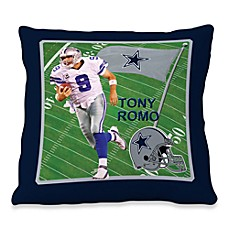 Biggshots Tony Romo Game Time Action Sports 18-Inch Toss Pillow