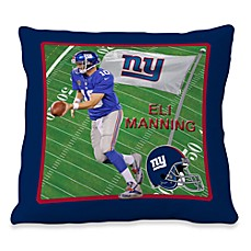 Biggshots Eli Manning Game Time 18-Inch Toss Pillow