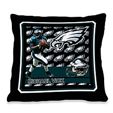 Biggshots Michael Vick First Down Action Sports 18-Inch Toss Pillow