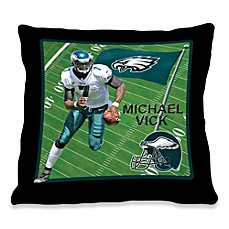 Biggshots Michael Vick Game Time Action Sports 18-Inch Toss Pillow