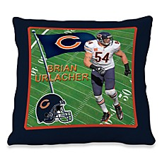 Biggshots Brian Urlacher Game Time Action Sports 18-Inch Toss Pillow