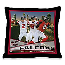 Biggshots Matt Ryan Hometown Action Sports 18-Inch Toss Pillow