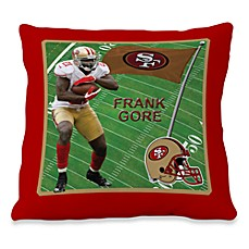 Biggshots Frank Gore Game Time Action Sports 18-Inch Toss Pillow