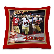 Biggshots Frank Gore Hometown Action Sports 18-Inch Toss Pillow