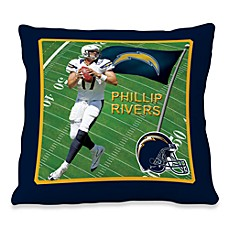 Biggshots Phillip Rivers Game Time Action Sports 18-Inch Toss Pillow