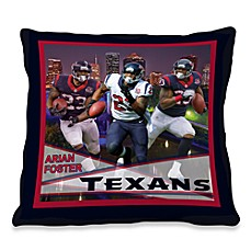 Biggshots Arian Foster Hometown Action Sports 18-Inch Toss Pillow