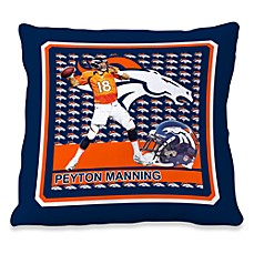 Biggshots Peyton Manning First Down Action Sports 18-Inch Toss Pillow